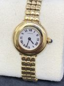 CARTIER 18ct GOLD QUARTZ WATCH