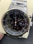 I.W.C STAINLESS STEEL CHRONOGRAPH AUTOMATIC WATCH