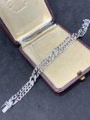 White gold 18 carat diamond set bracelet G/VS diamonds approximately 24.3 g