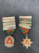 Pair of safe driving competition Medals various dates