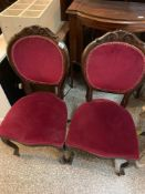 Pair of modern upholstered chairs