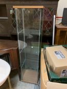 Modern glass cabinet display unit three glass shelves