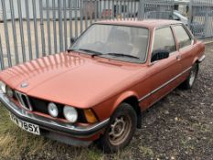 BARN FIND 1982 3 DOOR SALOON BMW 316 - 1 OWNER FROM NEW - RARE FIND