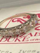 Beautiful 18ct Gold 1.1ct VS 7-Stone Half Eternity Diamond Ring