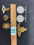 Various army medals and badges including defence medal inc ribbons that look unused and original