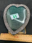 Heart shaped Silver coloured frame as found