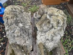 LOVELY PAIR OF LION GARDEN ORNAMENTS