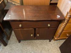 Two door one drawer Darkwood unit
