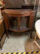 Glazed dark wood cabinet