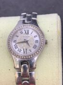 Balmain stainless steel Diamond set watch