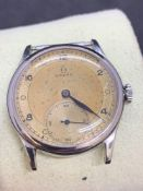 Omega stainless steel vintage watch approximately 35 mm to crown