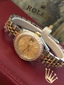 Stainless Steel & Yellow Gold Rolex Datejust Watch (Champagne Dial)