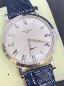Watch marked Patek Philippe stainless steel case movement checked and verified as Patek Philippe