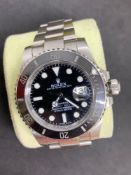 Stainless steel watch marked Rolex & marked submariner movement genuine Rolex Case and strap sold as