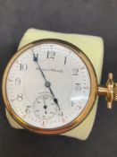 Hampdon Watch Co, Canton Ohio Pocket Watch Yellow coloured metal