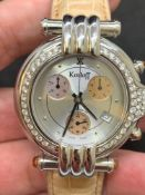 Korloft Chrono Diamond Set watch Approx. 45mm