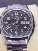 West and watch company day date stainless steel walked approximately 35 mm