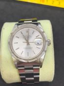 Rolex gents 36 mm date stainless steel watch