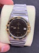 Gents 35 mm steel and gold Omega constellation watch