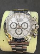 Rolex Daytona chronograph stainless steel watch We believe Dial and chrono pushers maybe aftermarket