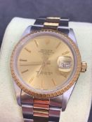Rolex stainless steel and gold 36 mm oyster perpetual date Gents watch Oyster Bracelet
