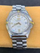 Breitling stainless steel and gold watch Automatic Aftermarket strap
