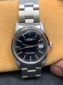Rolex Oyster Date S/Steel Watch 36mm Black Dial