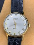 18 carat gold Longines automatic gents watch approximately 36 mm