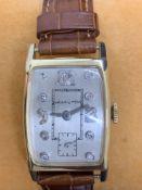 Vintage Ladies Hamilton diamond set 14ct gold watch approximately 22 mm Manual wind