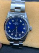 36 mm Rolex Air King diamond set dial stainless steel Watch Automatic