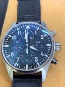 IWC S/Steel 45mm Chrono Watch