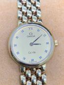 18ct Gold Ladies Omega De Ville Diamond Set Watch