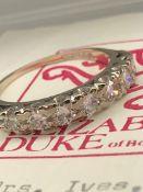 Beautiful 18ct Gold 1.1ct VS/ SI 7-Stone Half Eternity Diamond Ring