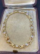 Fine 18ct Gold 2.00ct Approx Diamond Kiss Bracelet - 14 Grams