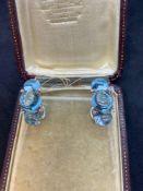 18ct White Gold 25.00ct Aquamarine & Diamond David Rosa Designer Earrings - 19 Grams