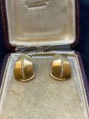 18ct Gold Diamond Set Earrings - 22.4 Grams- 0.50ct Diamonds G/VS