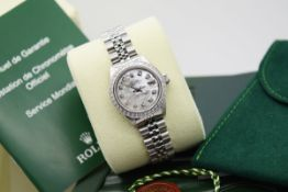 *STUNNING* ROLEX LADY DATEJUST - STAINLESS STEEL, DIAMOND MOP DIAL