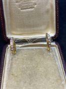 18ct Gold 5 Stone Diamond Earrings - 5 Grams