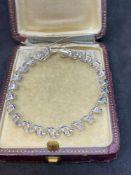 18ct White Gold Spiral Diamond Bracelet - 1.03ct Diamonds G/VS-SI - 16.8 Grams