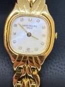 LADIES 18ct GOLD PATEK PHILIPPE WATCH - DIAMOND DIAL- FAB WATCH