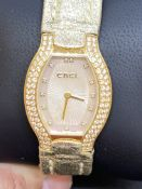 18ct GOLD LADIES EBEL DIAMOND SET WATCH