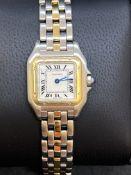 Ladies Cartier Panthère Steel & 3 Row 18ct Quartz 22mm Ivory Dial [166921]