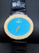 18ct GOLD MONTRE ROYAL LADIES WATCH SET WITH APPROX 4.00cts G/VVS