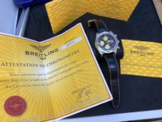 BREITLING STEEL & GOLD CHRONOGRAPH EVOLUTION WATCH B13356 WITH PAPERS