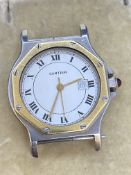 CARTIER AUTOMATIC STEEL & GOLD WATCH