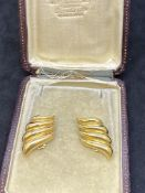 18ct GOLD EARRINGS - 14.5 GRAMS