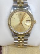 36mm STEEL & GOLD ROLEX WATCH - JUBILEE BRACELET