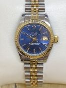 LADIES STEEL & GOLD ROLEX WATCH