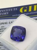 BLUE STONE WITH CARD MARKED TANZANITE