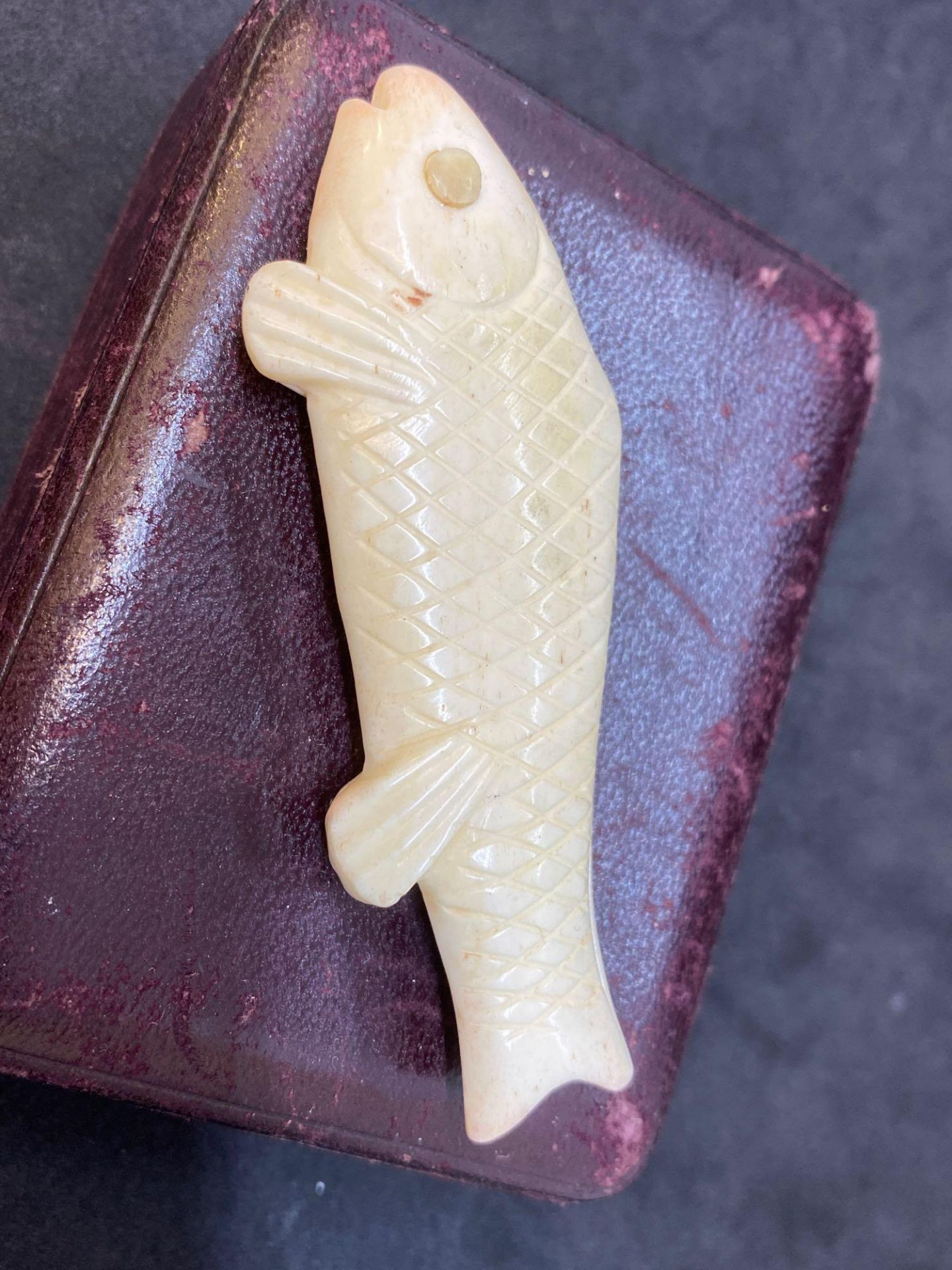 Lot 3 - Erotic Carved Bone Fish